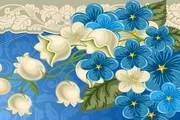 花卉装饰邀请卡矢量素材
