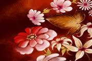 精美植物花卉背景矢量图