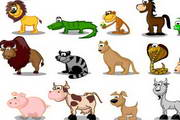 卡通动物形象矢...
