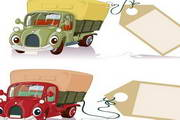卡通汽车货车矢量图