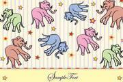 可爱卡通动物背景矢量图