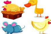 卡通家畜动物矢量素材