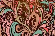 炫彩欧式花纹矢量背景图