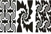 平面构成黑白图案矢量素材