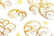 炫彩植物点缀花纹矢量素材