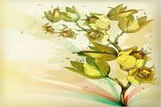 矢量淡雅手绘花朵素材