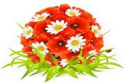 花卉复活节矢量设计素材
