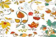 秋天装饰花纹矢量素材