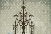 古典花纹吊灯矢量素材