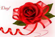红艳玫瑰背景矢量素材