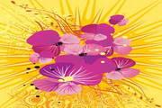 炫彩花卉矢量背景素材