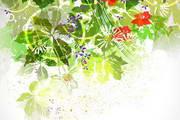夏季斑驳创意背景矢量素材