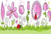 卡通装饰花纹矢量素材