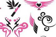 粉红色设计元素矢量素材