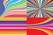 炫彩线条背景矢量图