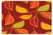 树叶创意背景矢量图