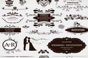 婚礼装饰花纹矢量素材
