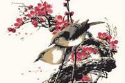 中国花鸟画矢量素材下载
