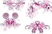 紫色浪漫花纹矢量素材