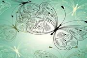 炫彩蝴蝶花纹矢量素材