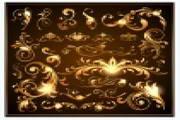 欧式璀璨花纹矢量素材