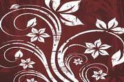 炫彩植物花纹背景矢量图