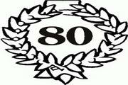 矢量数字80