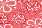 可爱鲜花花纹背景矢量素材