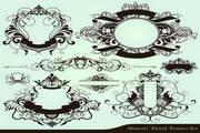 矢量复古欧式花纹素材