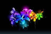 矢量潮流花朵素材