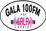 矢量数字100FM Gala radio logo2