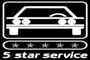 矢量数字5 star service