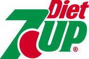 矢量数字7UP Diet