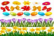 矢量春节花卉背景素材