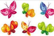 矢量炫彩蝴蝶设计素材