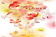 粉系鲜花背景矢量图