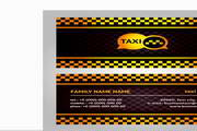 矢量出租车名片设计素材