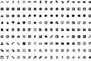 黑白两套简约风格网页图标