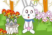 可爱兔子PPT背景...