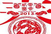 2013蛇年创意剪纸春字矢量素材