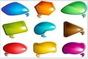 矢量多彩创意对话框素材