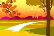 秋天风景PPT模板