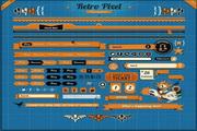 橙色网页UI设计PSD模板