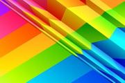 七彩折纸底图矢量设计模板