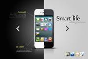 黑白合体手机创意设计PSD素材