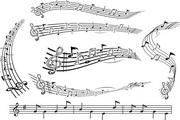 矢量音乐五线谱...