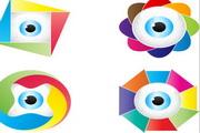矢量色彩创意眼球