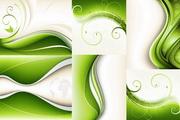 6款绿色动感背景矢量素材