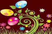 复活节彩蛋背景矢量图3