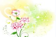 韩国卡通花纹矢量图